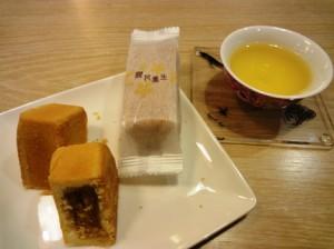 Pケーキとお茶
